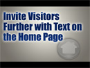 Invite Customers Further with Good Home Page Text