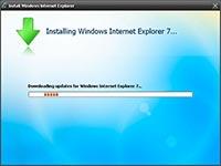 Installing Windows Internet Explorer 7