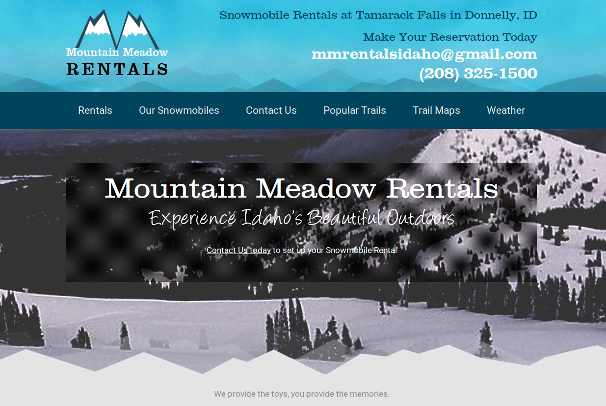 Mountain Meadow Adventure Rentals :: Snowmobile & ATV Rentals in Donnelly, Idaho :: http://www.mountainmeadowrentals.com