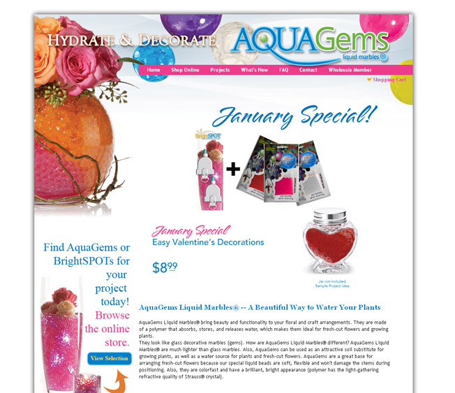 AquaGems :: Liquid Marbles for Flower Arrangements :: http://www.aqua-gems.com