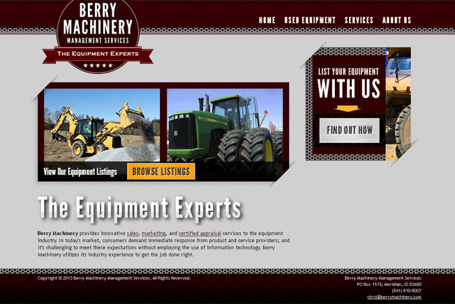 Berry Machinery Management Services :: Used Equipment Sales :: http://www.berrymachinery.com