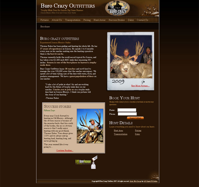 Buro Crazy Outfitters :: Sonora Mexico Mule Deer Hunting :: http://www.burocrazyoutfitters.com