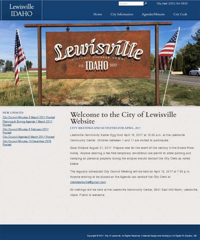 City of Lewisville, ID :: The City of Lewisville, Idaho :: http://www.cityoflewisville.org