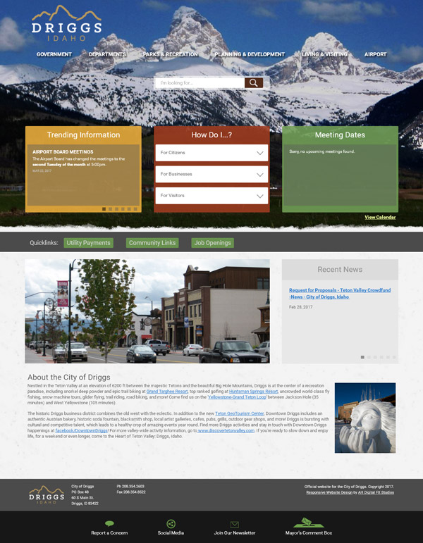 The City of Driggs, ID :: The official website for the city of Driggs in Teton County, Idaho :: http://www.driggsidaho.org