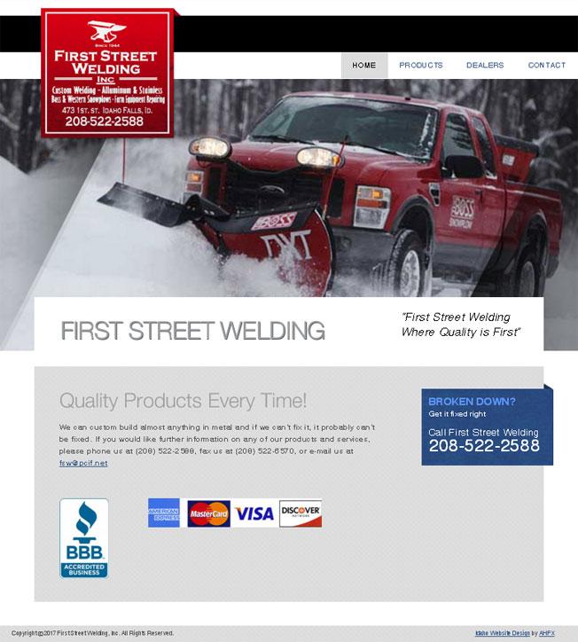 First Street Welding :: Custom Welding & Fabrication in Idaho Falls :: http://www.firststreetwelding.com