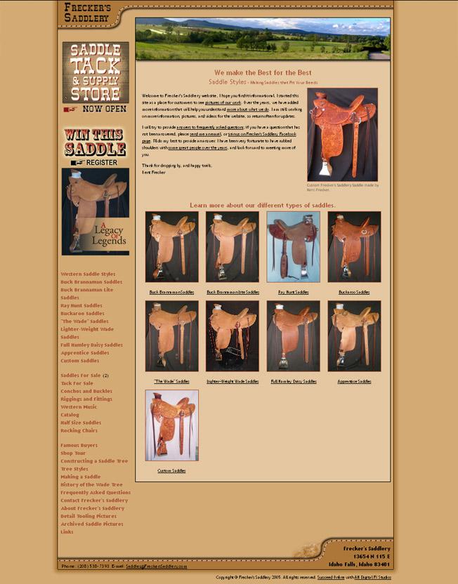 Frecker's Saddlery :: Custom Wade Saddles :: http://www.freckerssaddlery.com