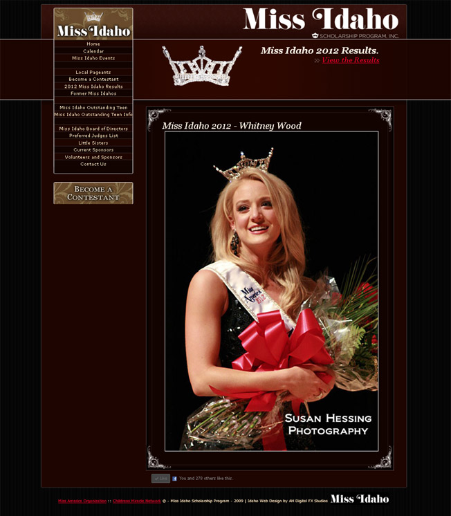 Miss Idaho Organization :: Scholarship Pageant :: http://www.missidaho.org