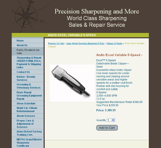 Precision Sharpening, Inc. :: Scissor Sharpening and Sales :: http://www.precisionsharpening.net
