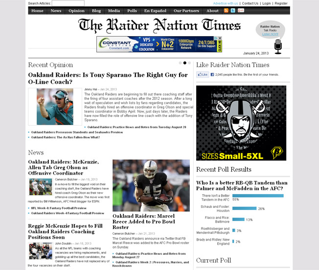 The Raider Nation Times :: The Ultimate Source on the Oakland Raiders :: http://raidernationtimes.com