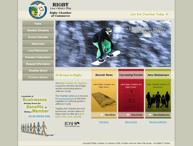 Rigby Chamber of Commerce :: Chamber of Commerce Website :: http://www.rigbychamber.com
