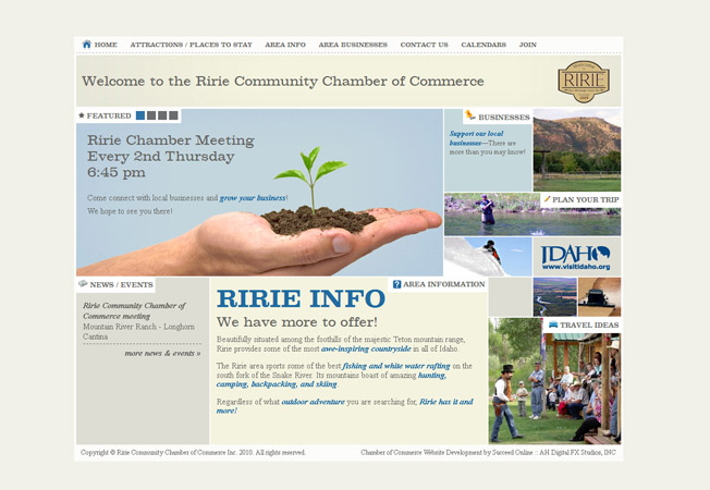 Ririe Community Chamber of Commerce :: Ririe Idaho Chamber of Commerce :: http://www.ririechamber.com