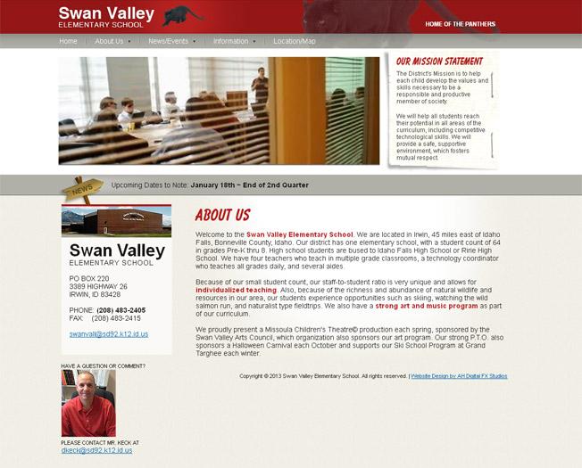Swan Valley Elementary School ::  :: http://sd92.k12.id.us