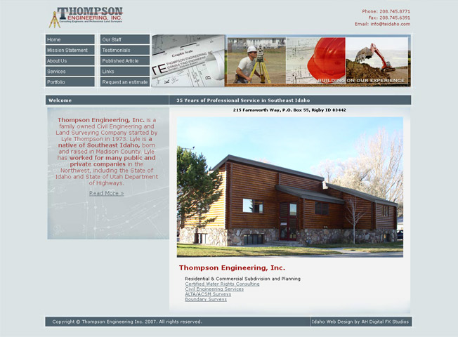 Thompson Engineering :: Civil Engineering and Land Surveying :: http://www.teidaho.com