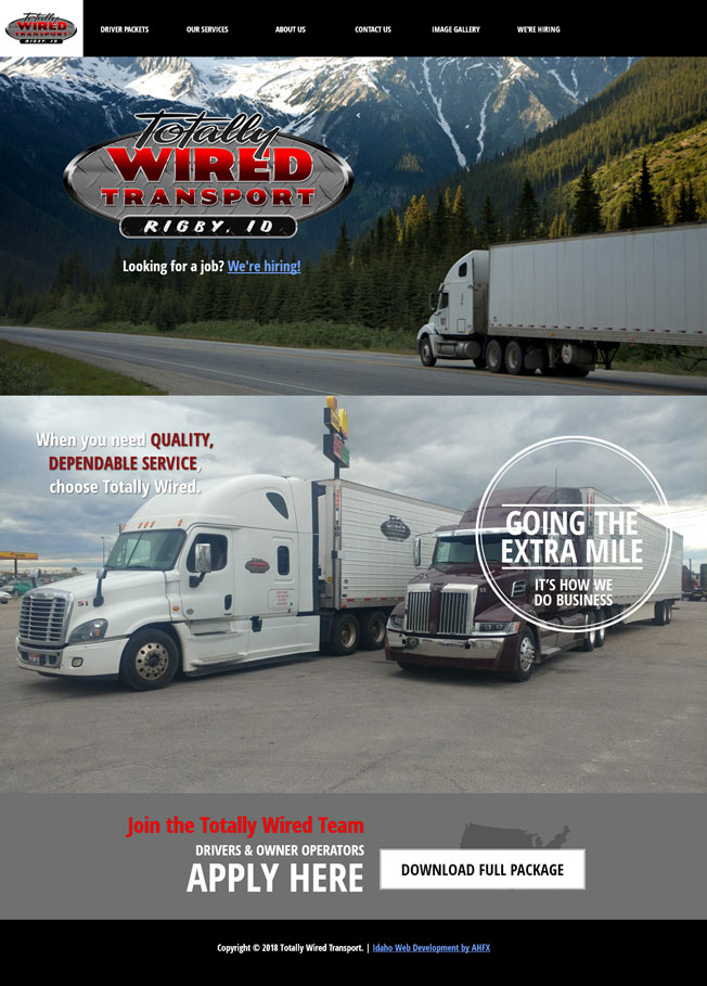 Totally Wired Transport :: Transportation and Logistical Services :: http://www.totallywiredtransport.com