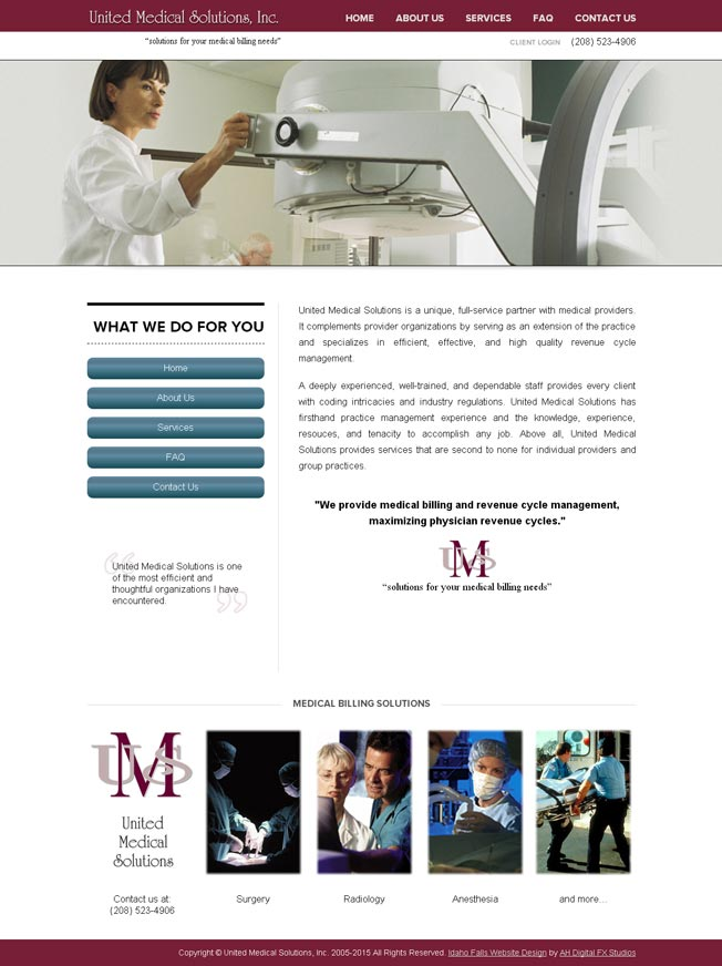 United Medical Solutions :: Medical Billing :: http://www.unitedmedicalsolution.com