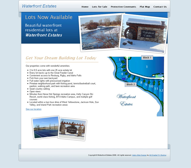 Water Front Estates :: River Front Properties :: http://www.waterfrontestatesidaho.com